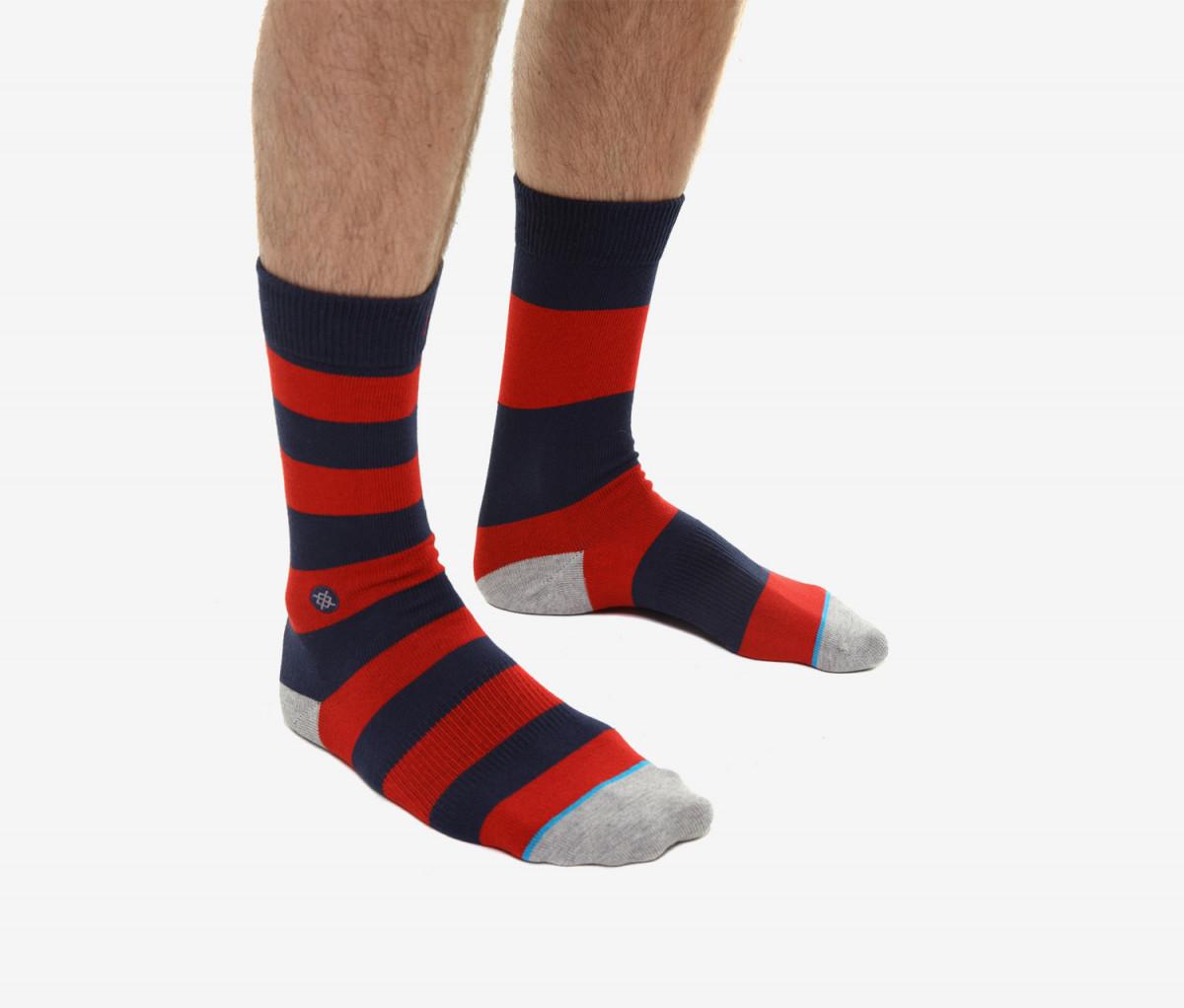 Stance Mariner Socks  Navy/Red