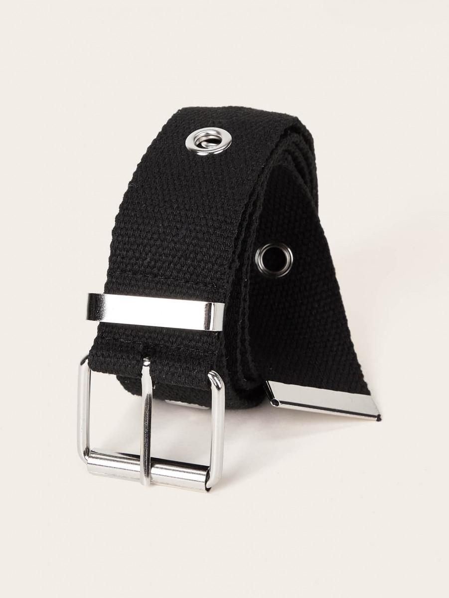 Solid Ribbon Buckle Belt