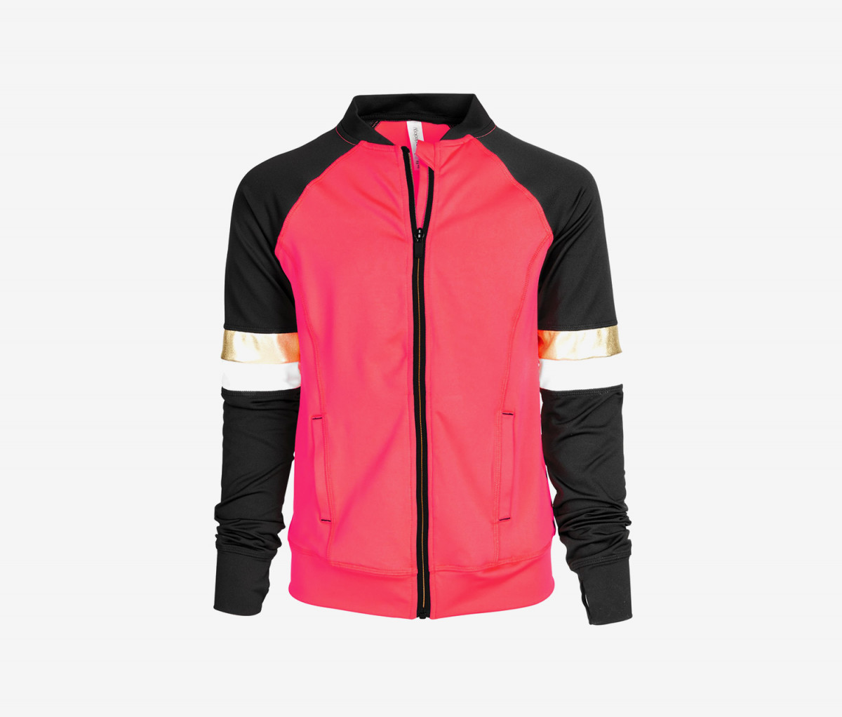 Ideology Big Girls Plus Colorblocked Zip-Up Active Jacket  Flamingo Pink