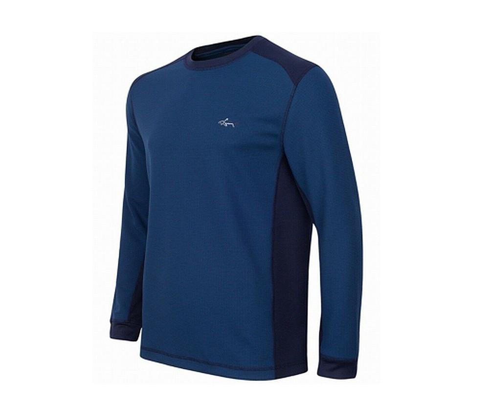 Greg Norman For Tasso Elba Colorblocked Thermal Shirt  Blue Socket
