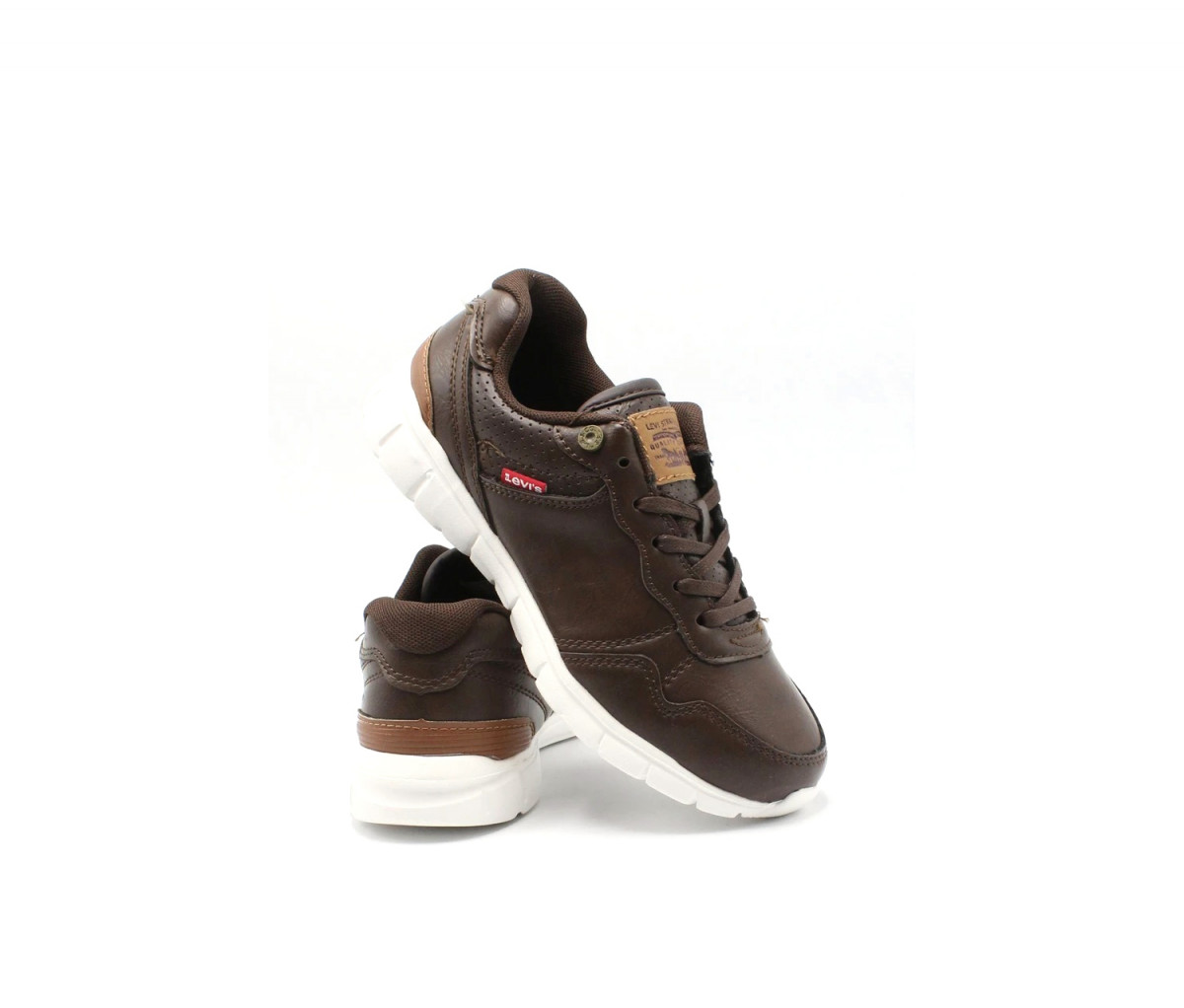 Levis Kids Boys Colby Burnish Shoes  Brown