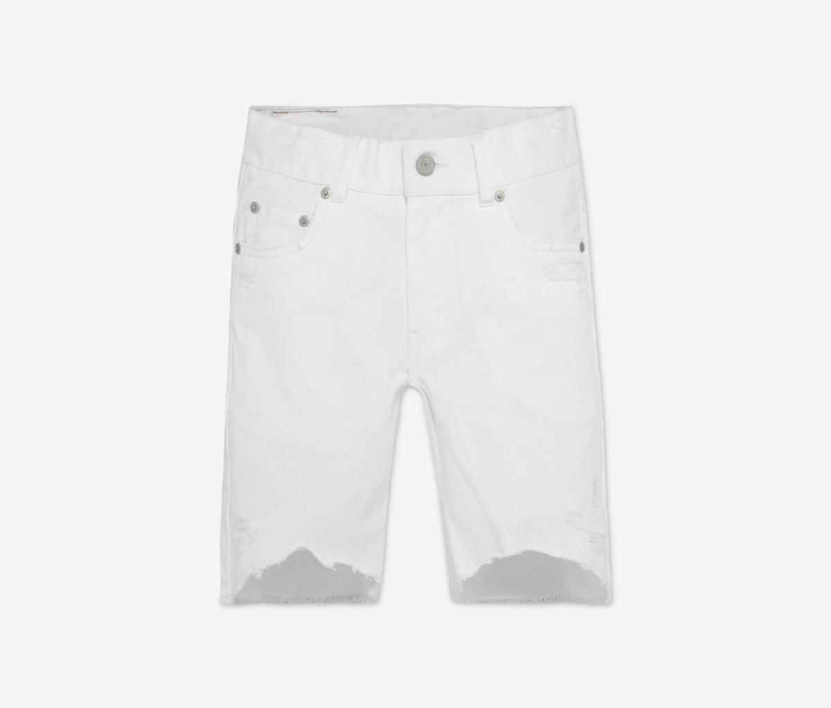 Levis 511 Destroyed Cotton Denim Shorts  White