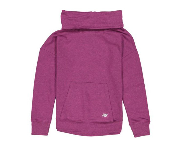 New Balance Girls Active Funnel Neck Pullover  Purple