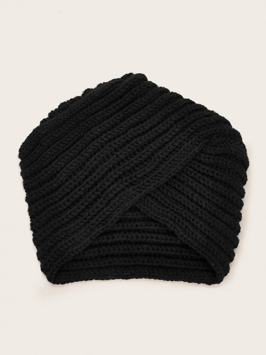 Solid Knit Turban Hat
