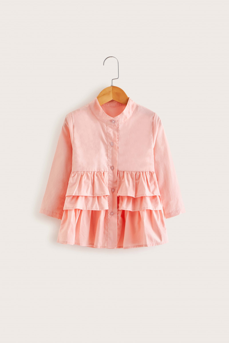 Toddler Girls Tiered Layer Ruffle Blouse