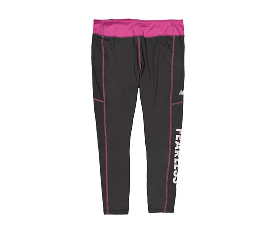 New Balance Girls Fearless Performance Crop Leggings  Black/Purple