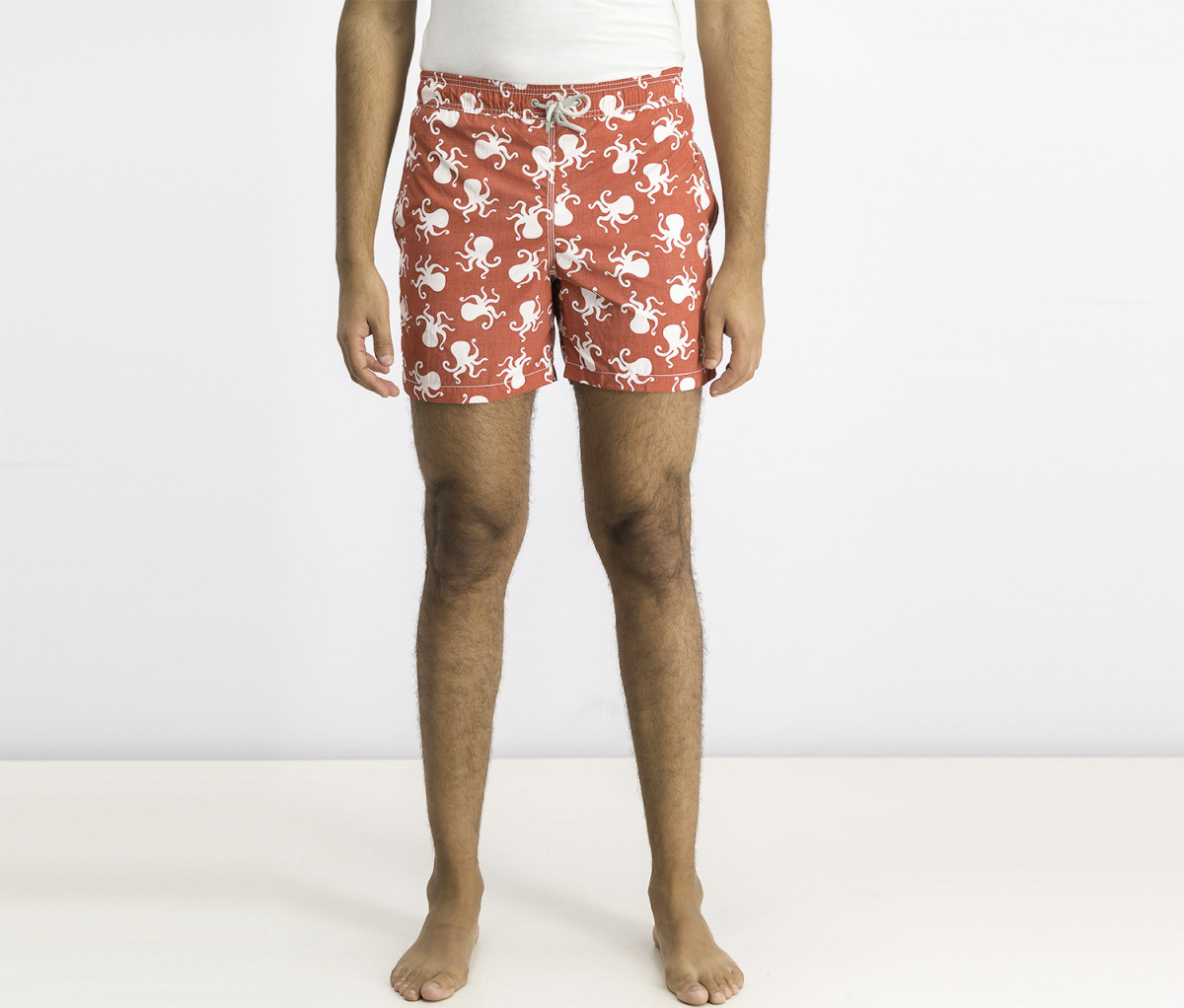 Hackett Mens Swimwear Shorts  Red