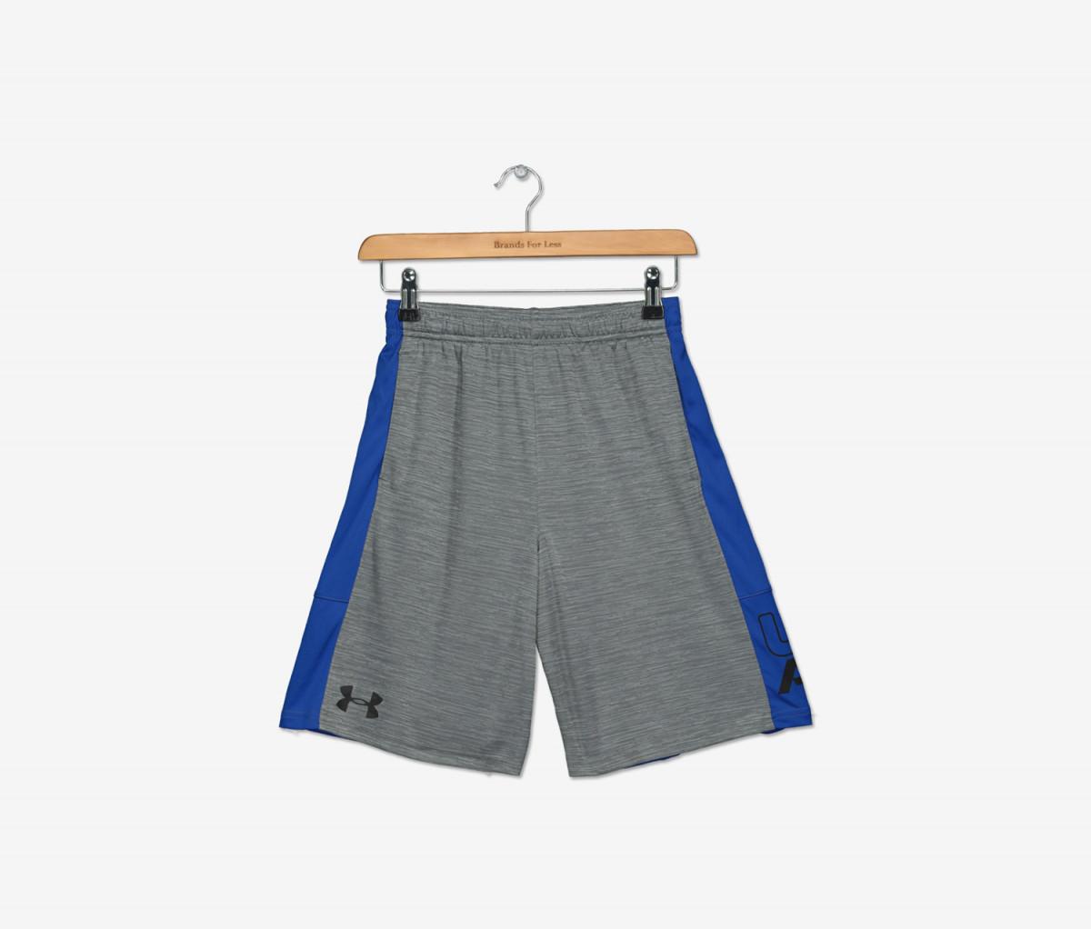 Under Armour Boys Printed Stunt Shorts  Graphite/Royal