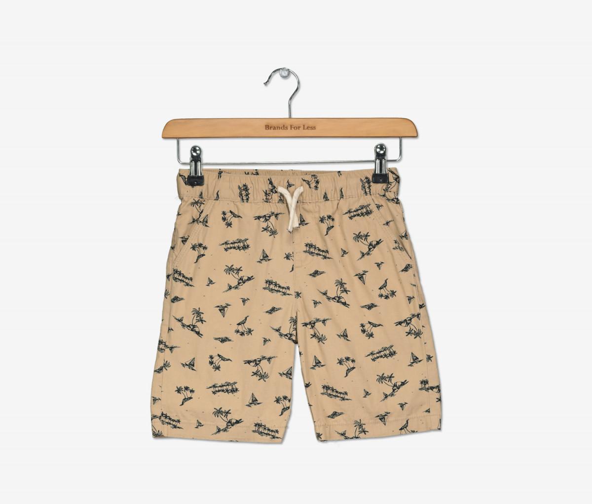 Epic Threads Little Boys Palm-Print Cotton Shorts  Hammock