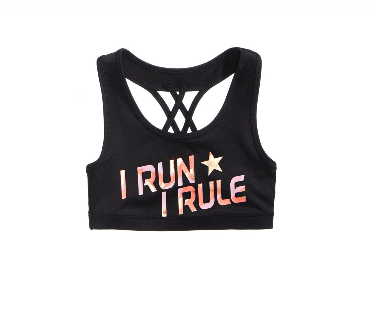 Ideology I Run I Rule Sports Bra  Noir