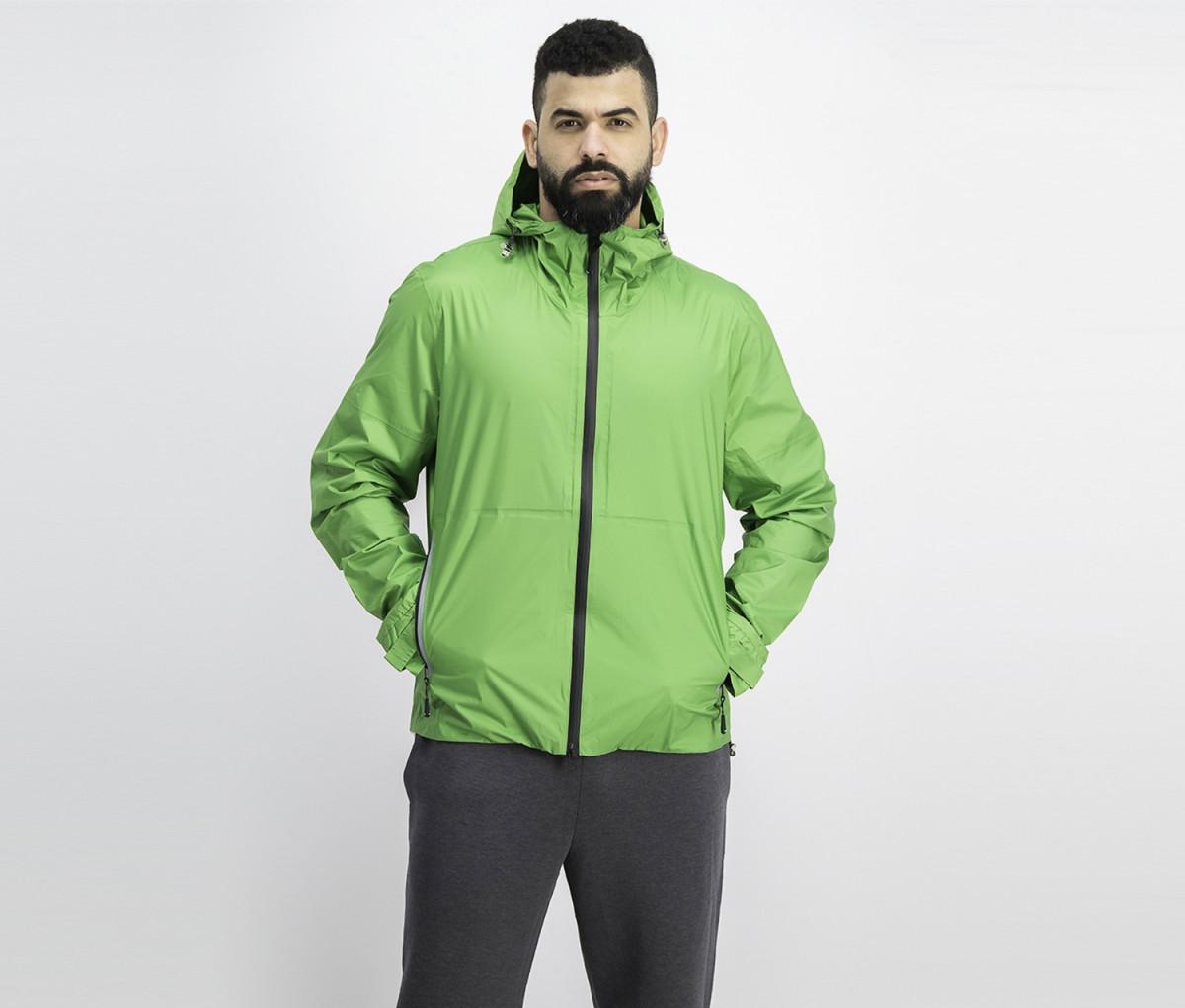 Hackett Mens Hooded Jacket  Green
