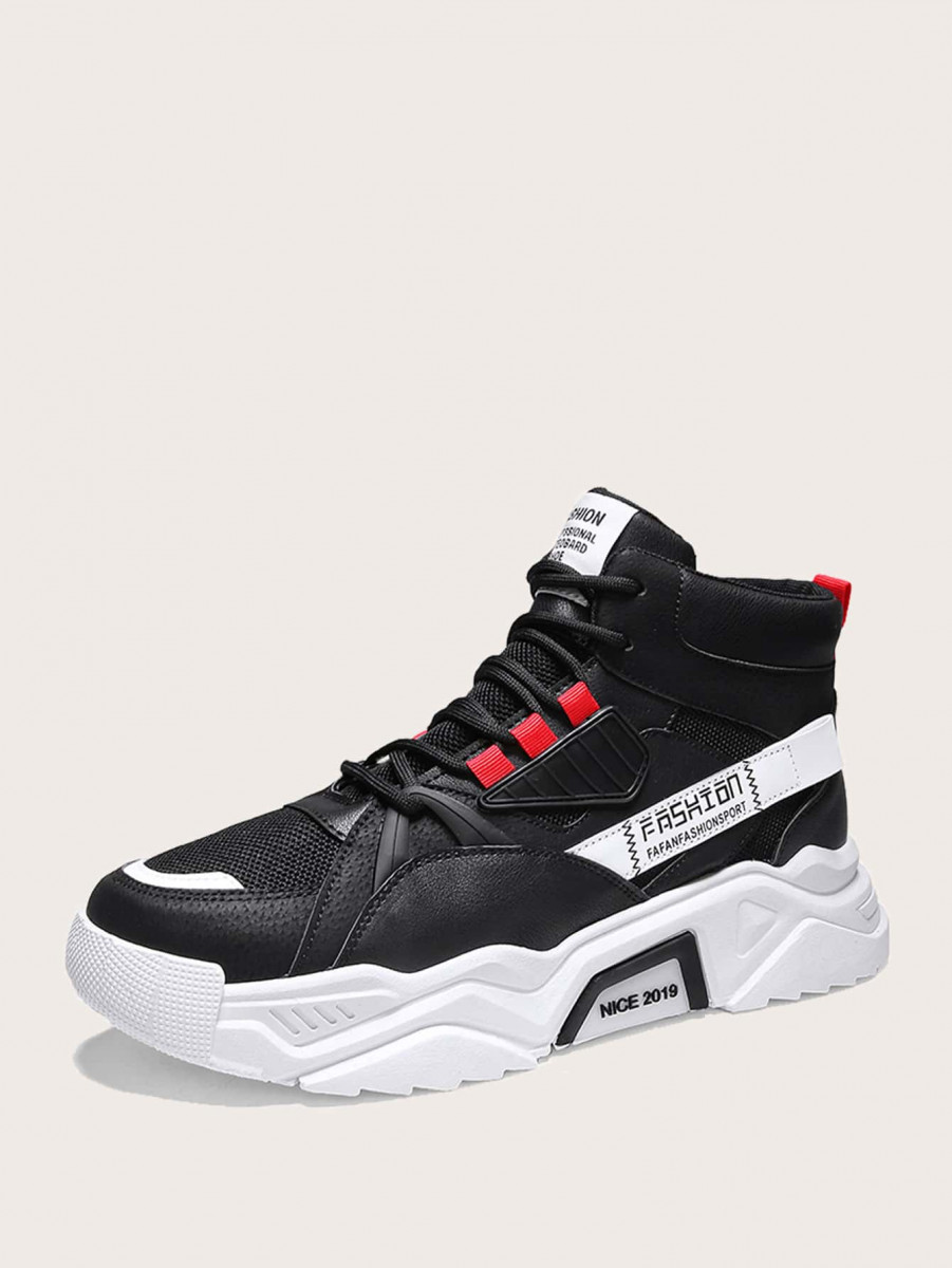 Men Letter Graphic Chunky Sneakers