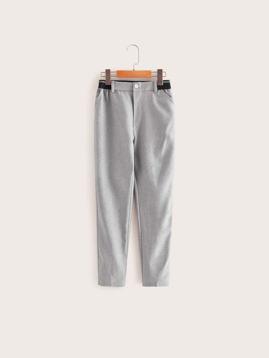 Boys Striped Elastic Waist Pants