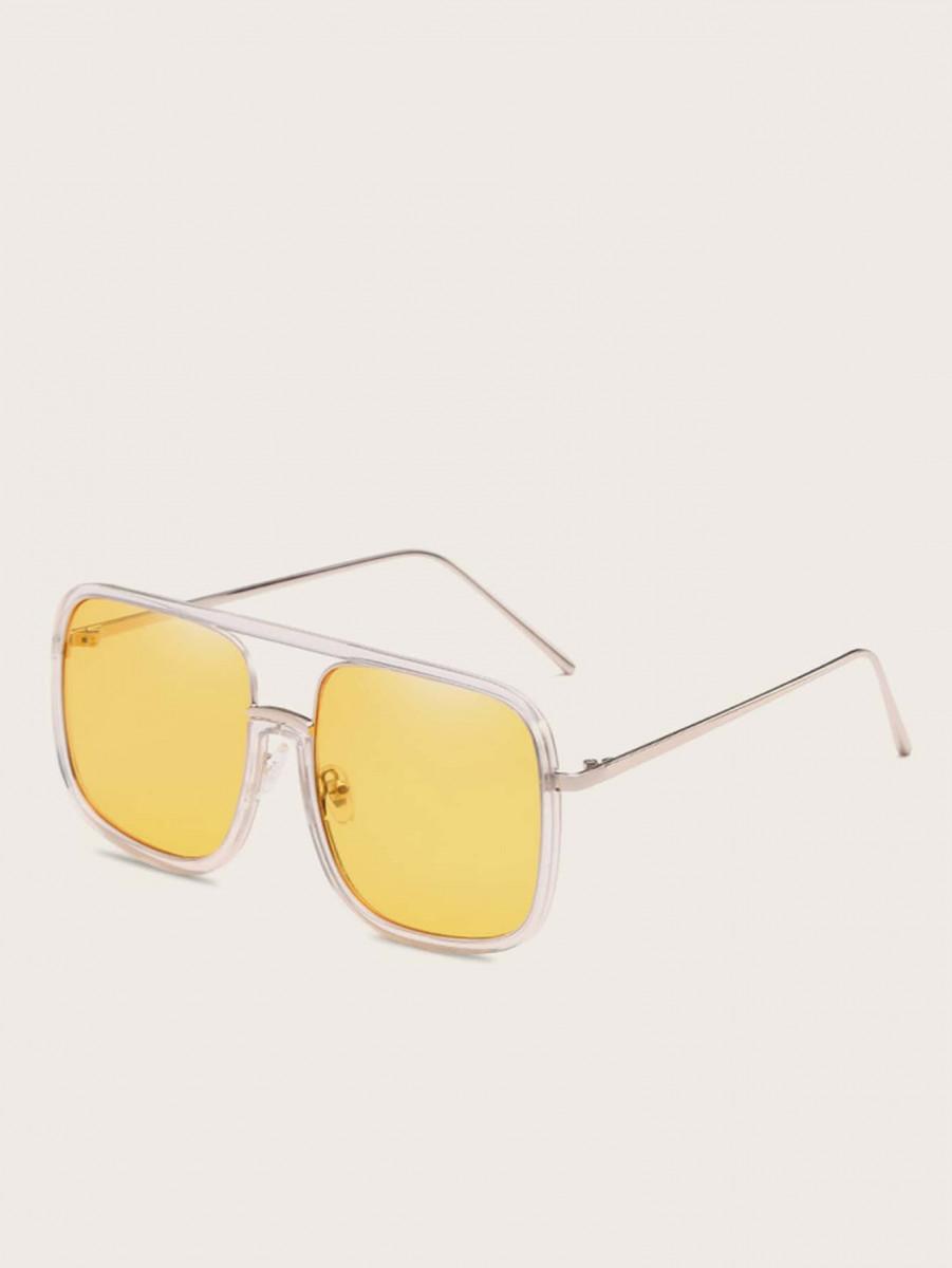 Men Top Bar Tinted Lens Sunglasses