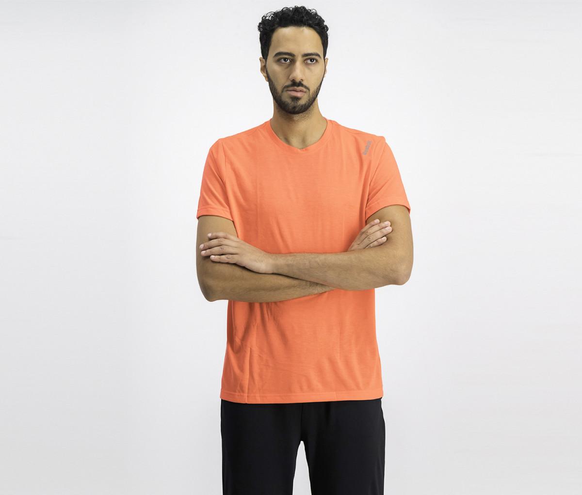 Reebok Mens Pullover Shirt  Neon Pink