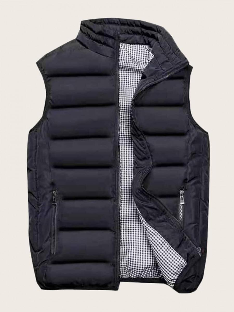 Men Zip Up Puffer Gilet