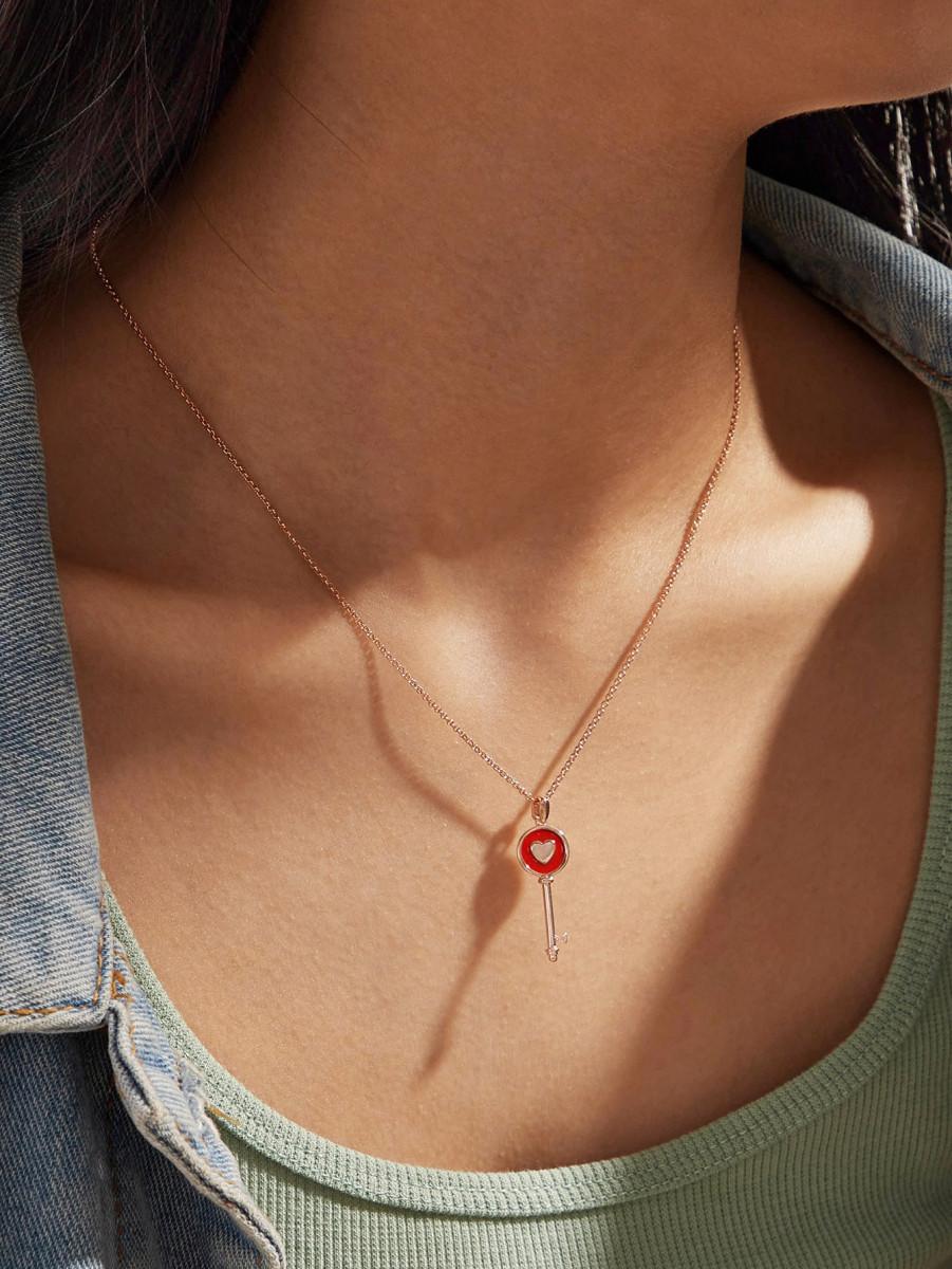 1pc Key Pendant Necklace