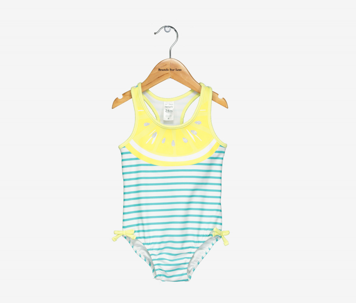 Carters Baby Girls Lemon-Print Swimsuit  Yellow/Turquoise/White