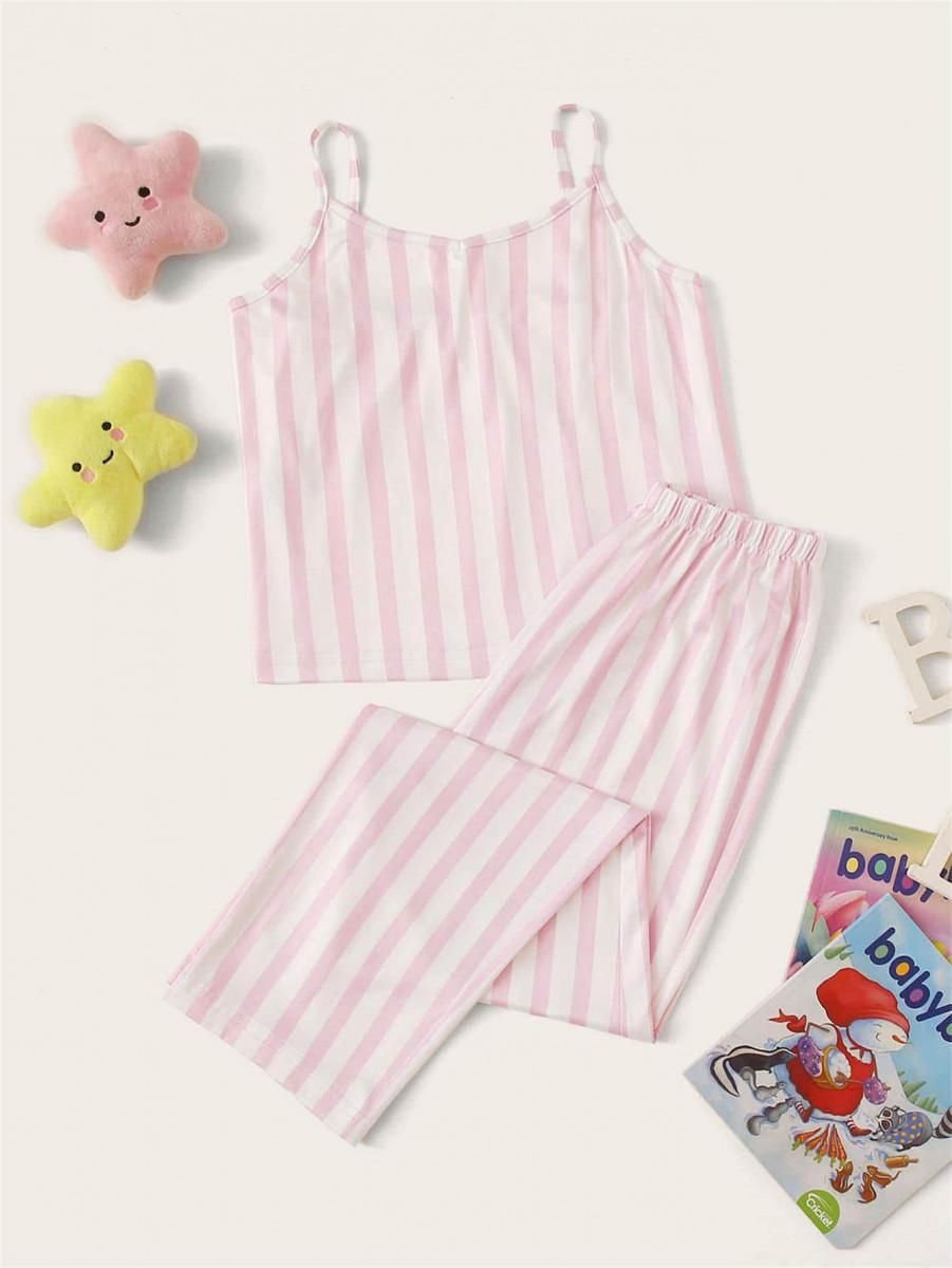 Girls Striped Cami PJ Set