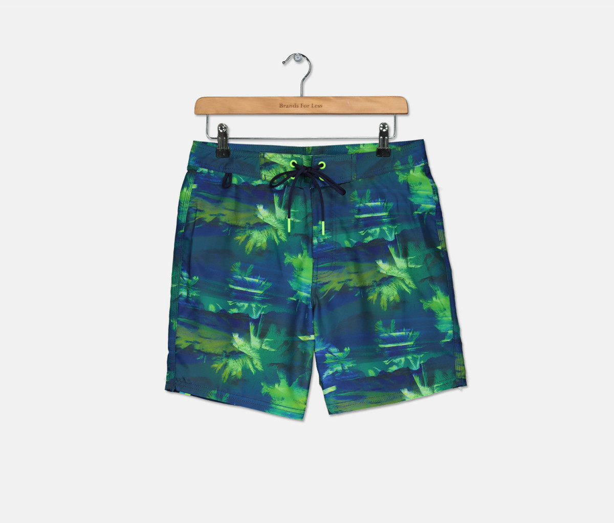 Sundek Mens Printed Boardshort  Navy/Green Combo