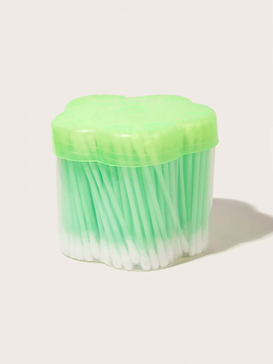 200pcs Simple Cotton Swab With Case