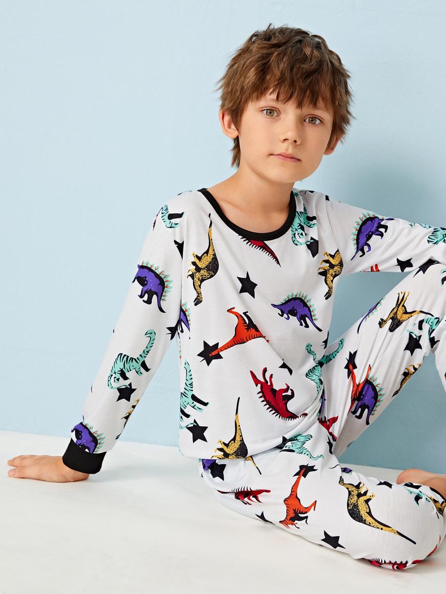 Boys Dinosaur Print PJ Set