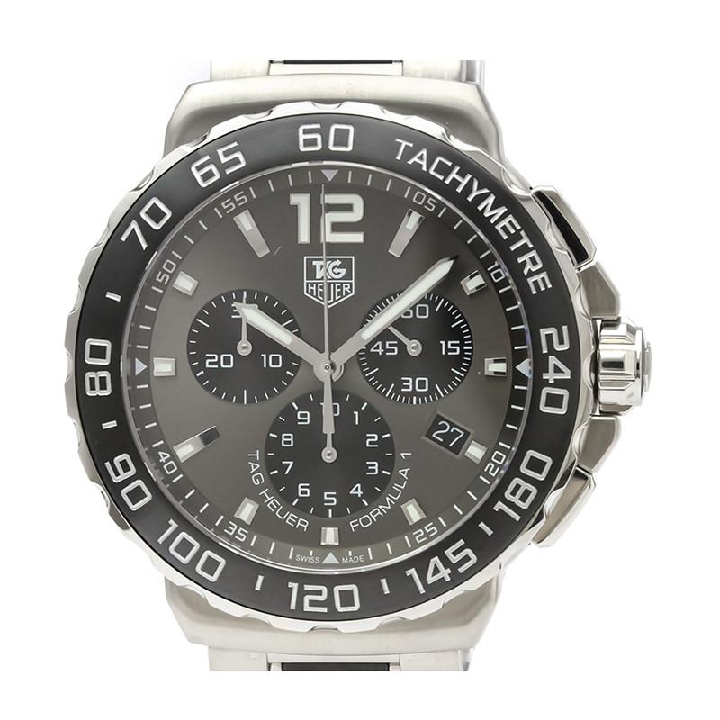 Tag Heuer Gray Stainless Steel Formula 1 Chronograph CAU1115 Men's Wristwatch 42MM