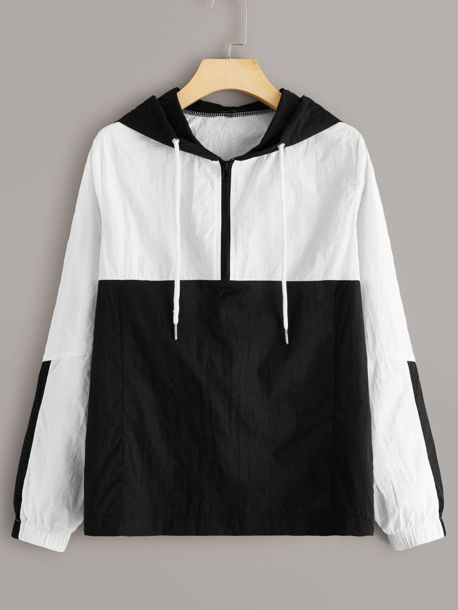 Two Tone Half Zip Anorak Jacket