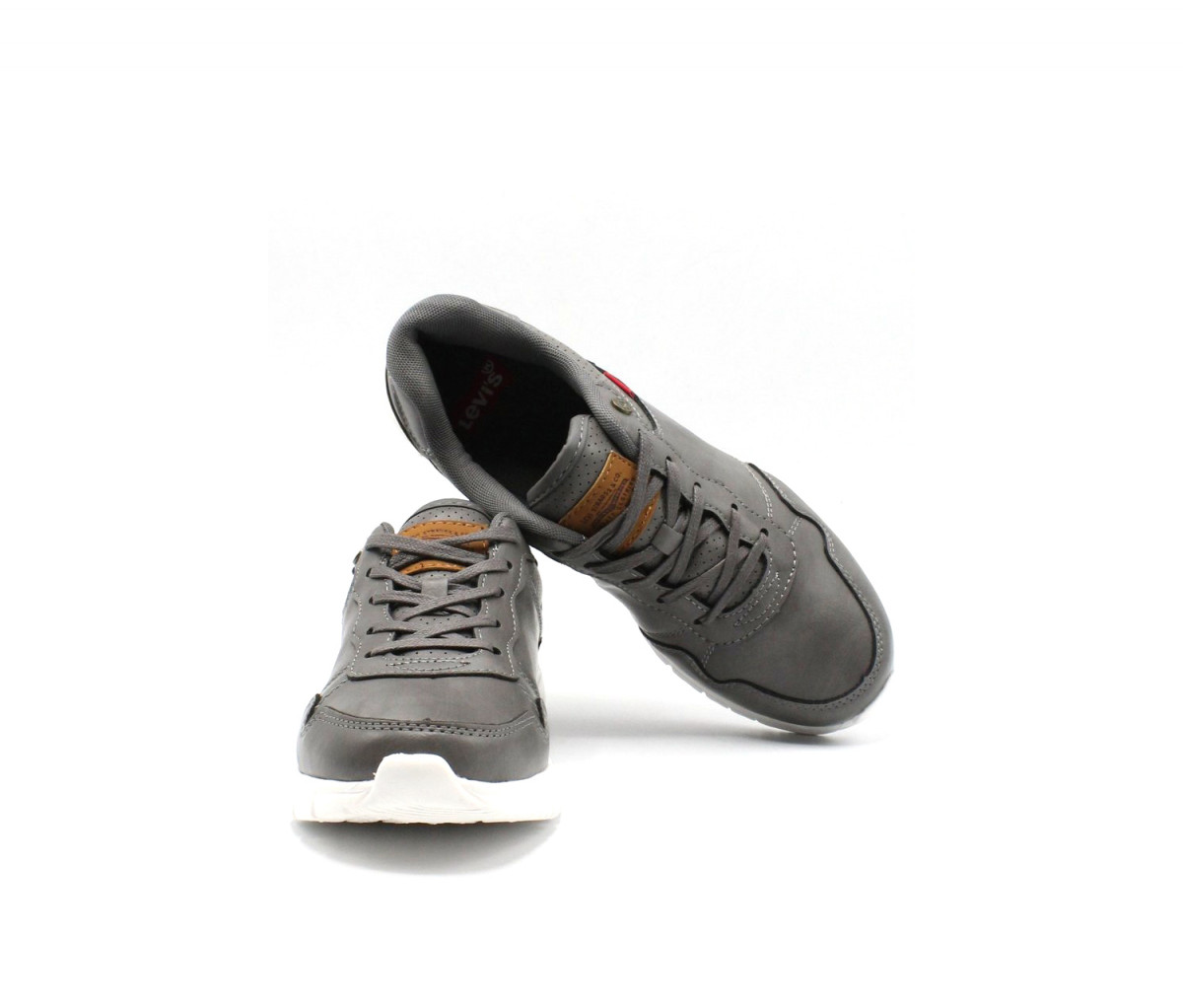 Levis Kids Boys Colby Burnish Shoes  Charcoal
