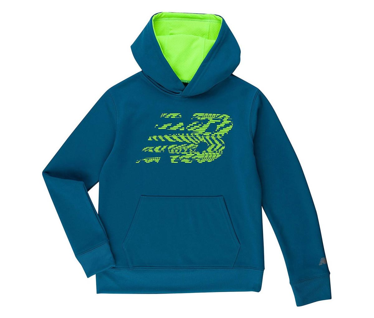 New Balance Boys Athletic Hoodie  Blue/Lime