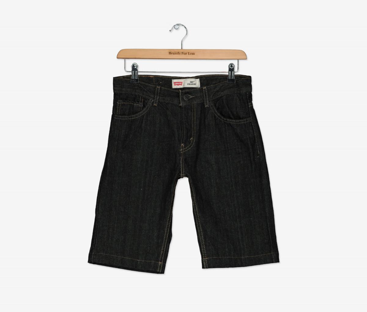 Levis Boys 505 Straight-Fit Short  Black