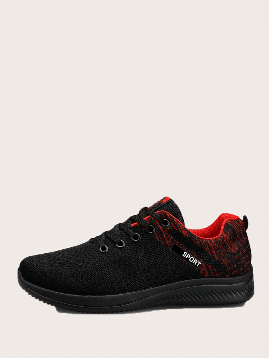Men Knit Lace-up Sneakers