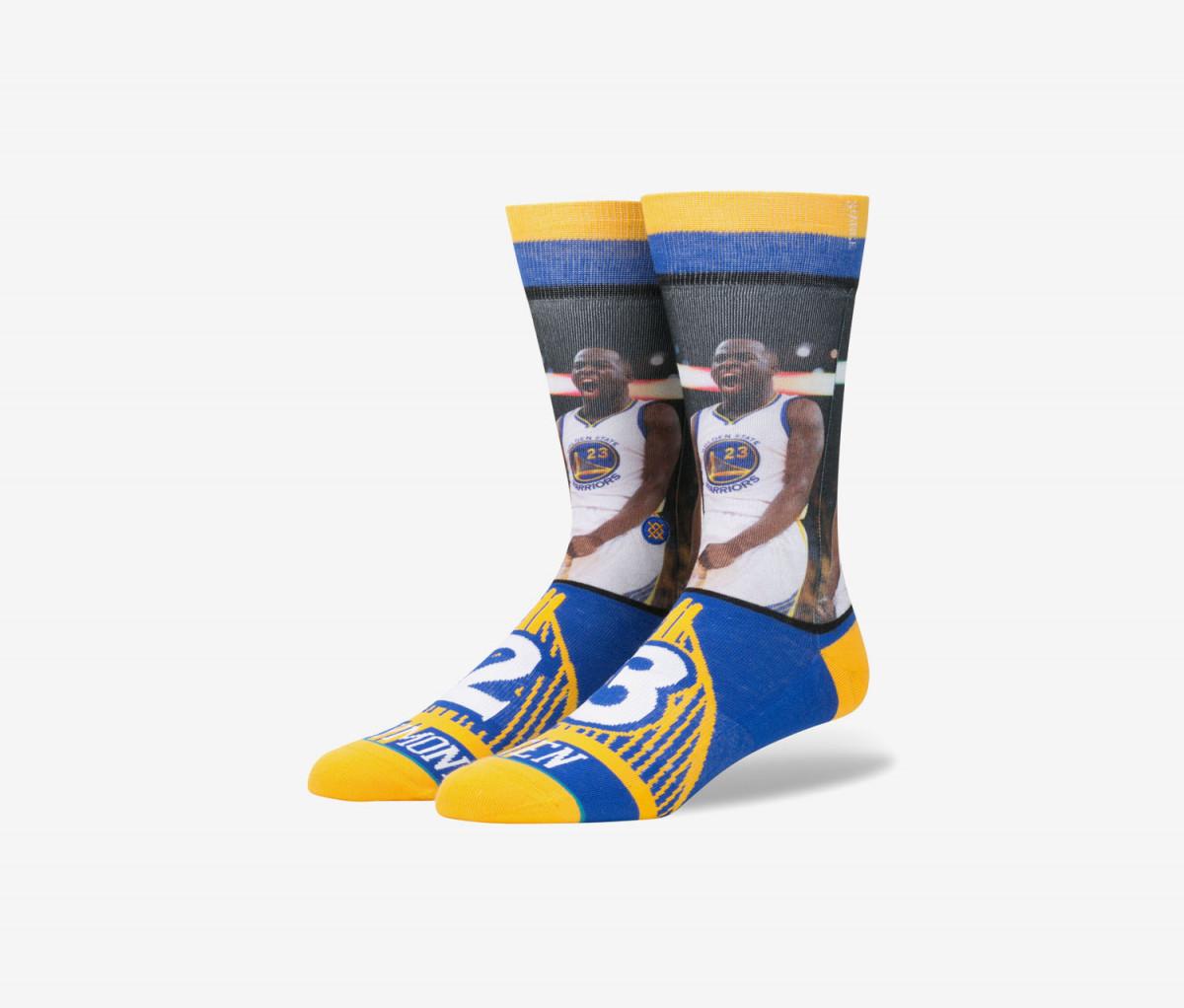 Stance Mens Draymond Green Socks  Blue/Yellow