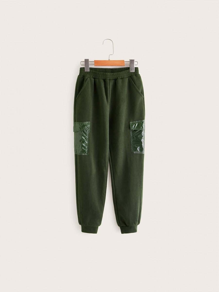 Boys Flap Pocket Side Sweatpants