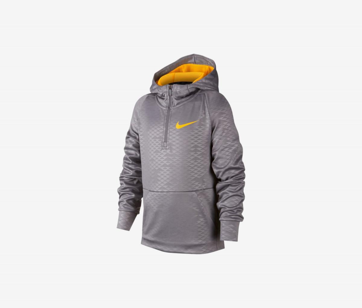 Nike Boys Therma 1/2 Zip Training Hoodie Sweatshirt  Grey