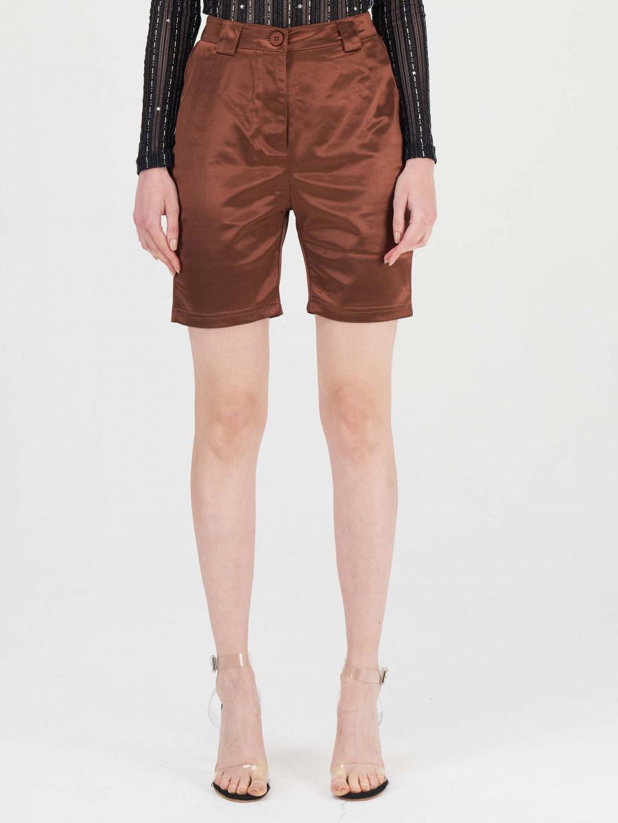 Button Fly Satin Shorts
