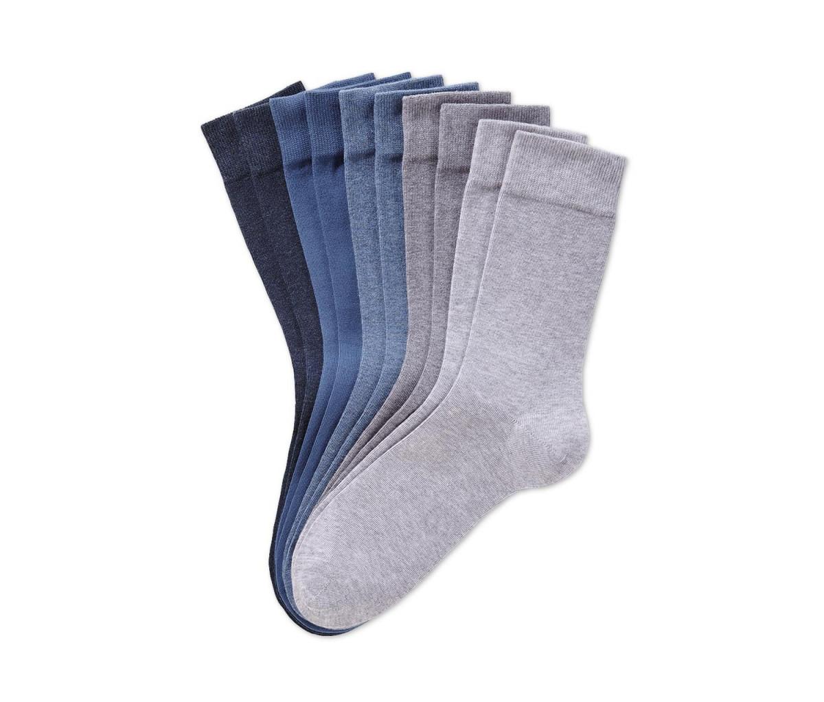 Mens Socks Set of 5  Grey/Blue