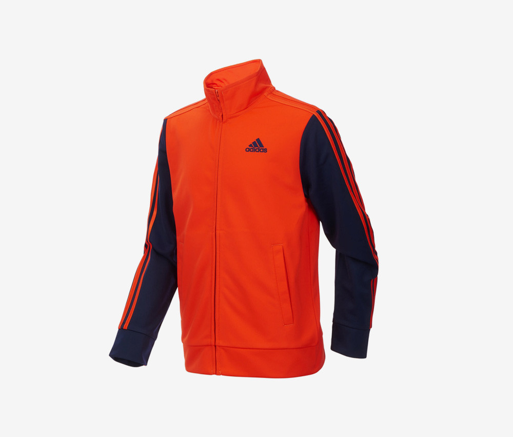 Adidas Kids Boys Zip-Up Tricot Jacket  Orange