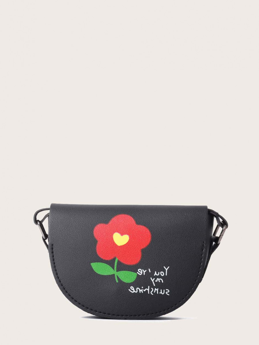 Girls Floral Graphic Crossbody Bag