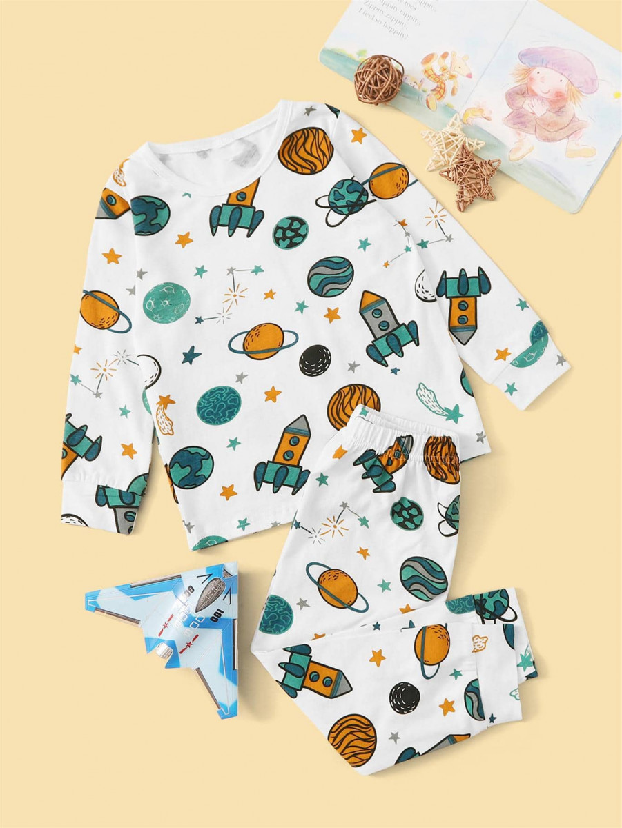 Toddler Boys Galaxy Print PJ Set