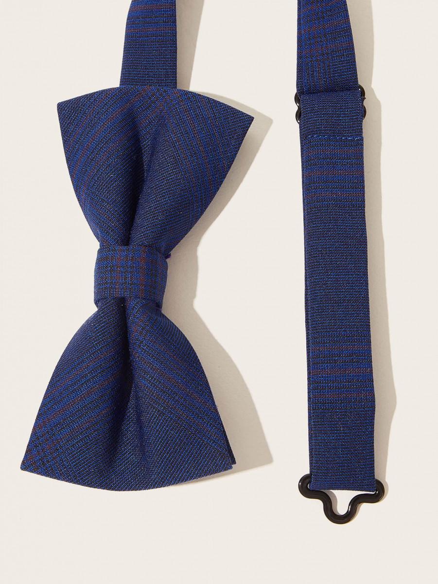 Men Plaid Pattern Bow Tie