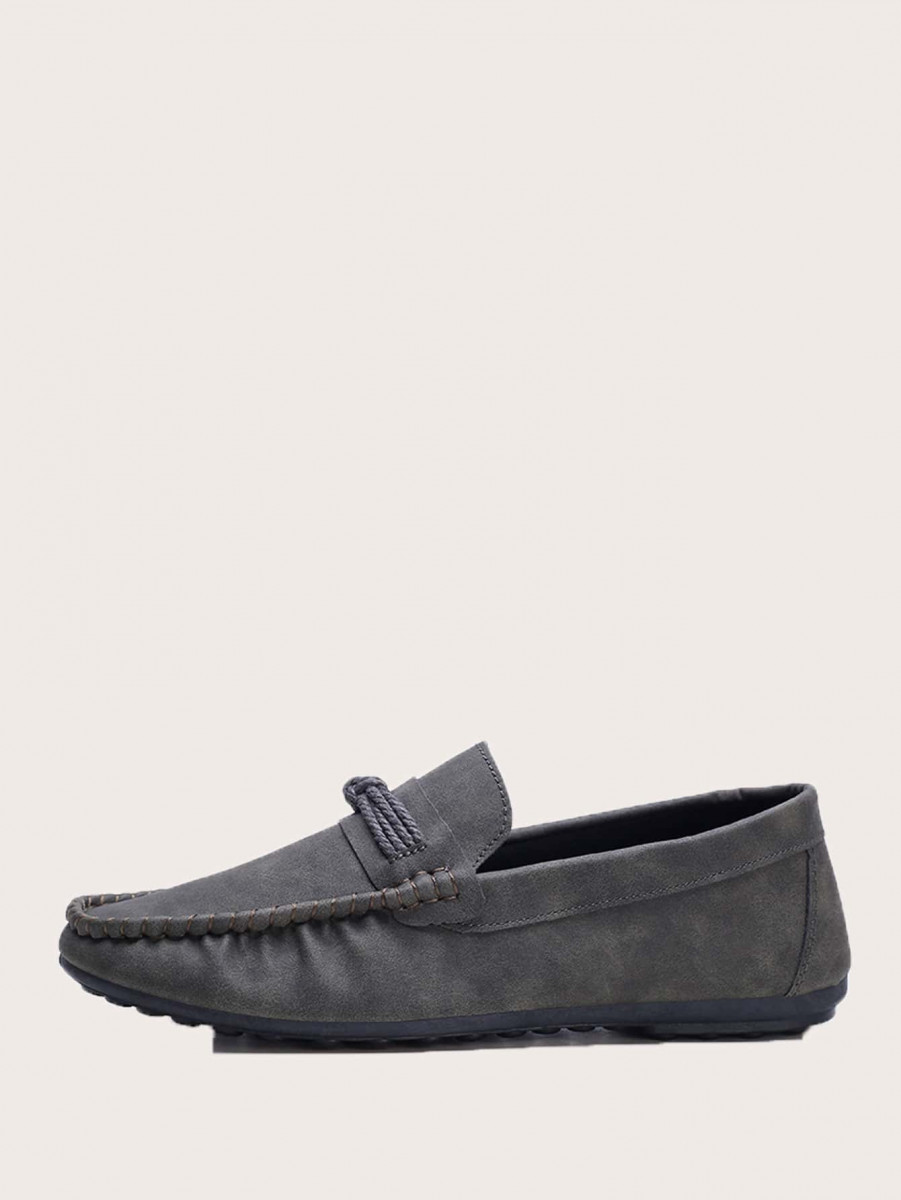 Men Slip On Wide Fit Flat Loafers