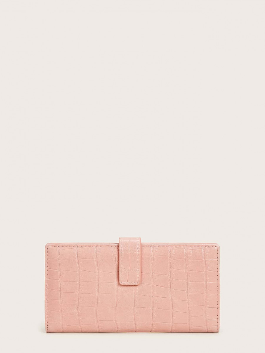 Croc Embossed Fold Cover Purse