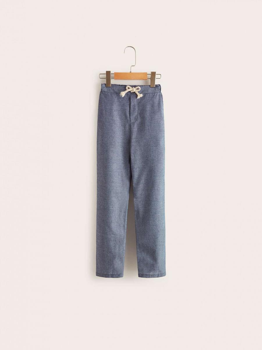 Boys Elastic Waist Tie Front Pants