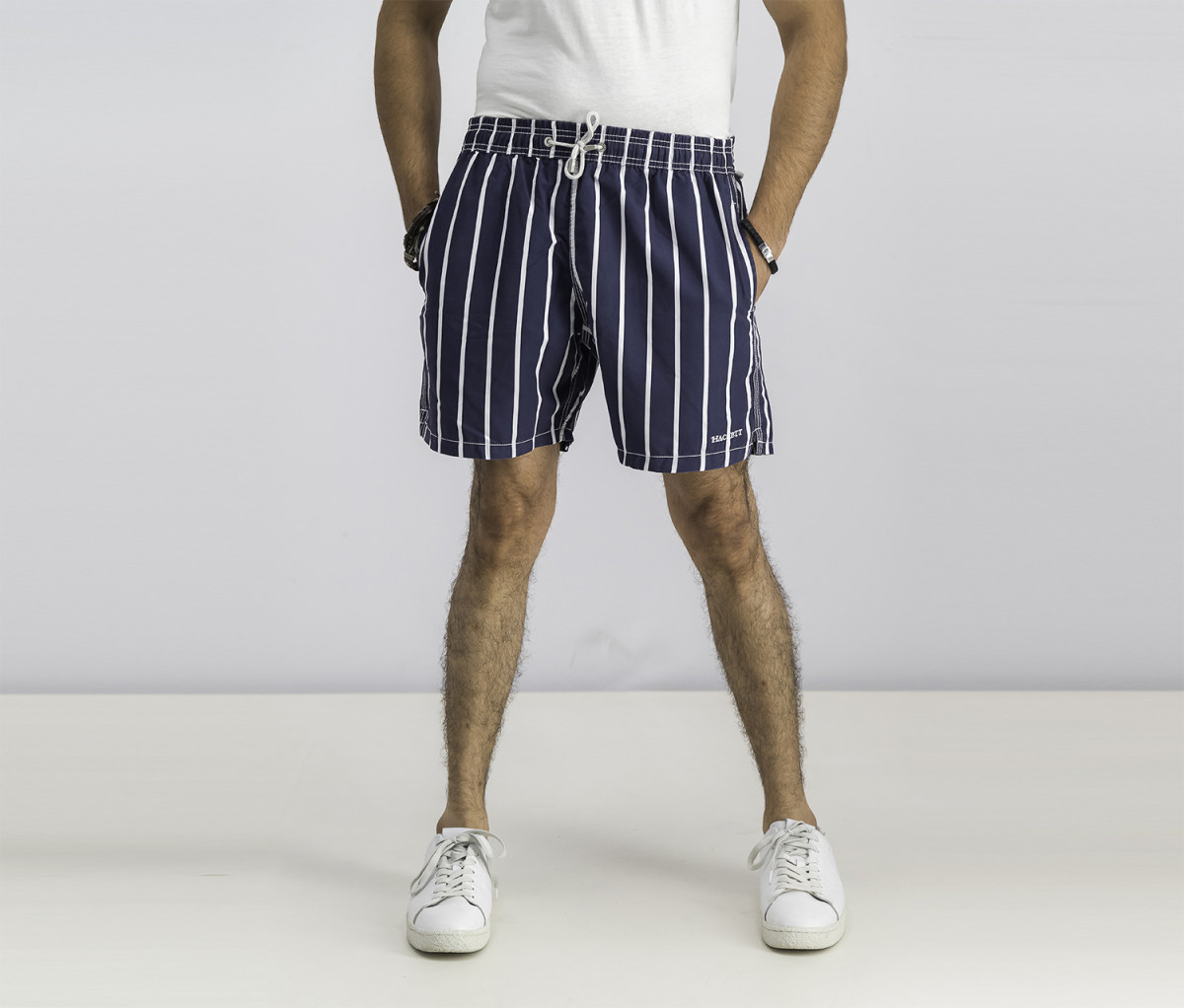 Hackett Mens Volley Stripe Short  Navy