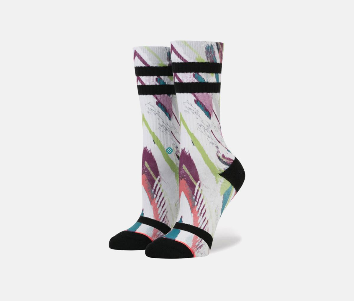 Stance Mens Delirious Classic Socks  White Combo