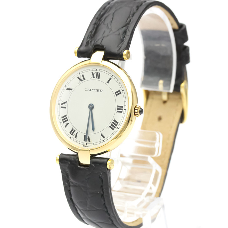 Cartier White 18K Yellow Gold and Stainless Steel Must Quartz Women's Wristwatch 30MM