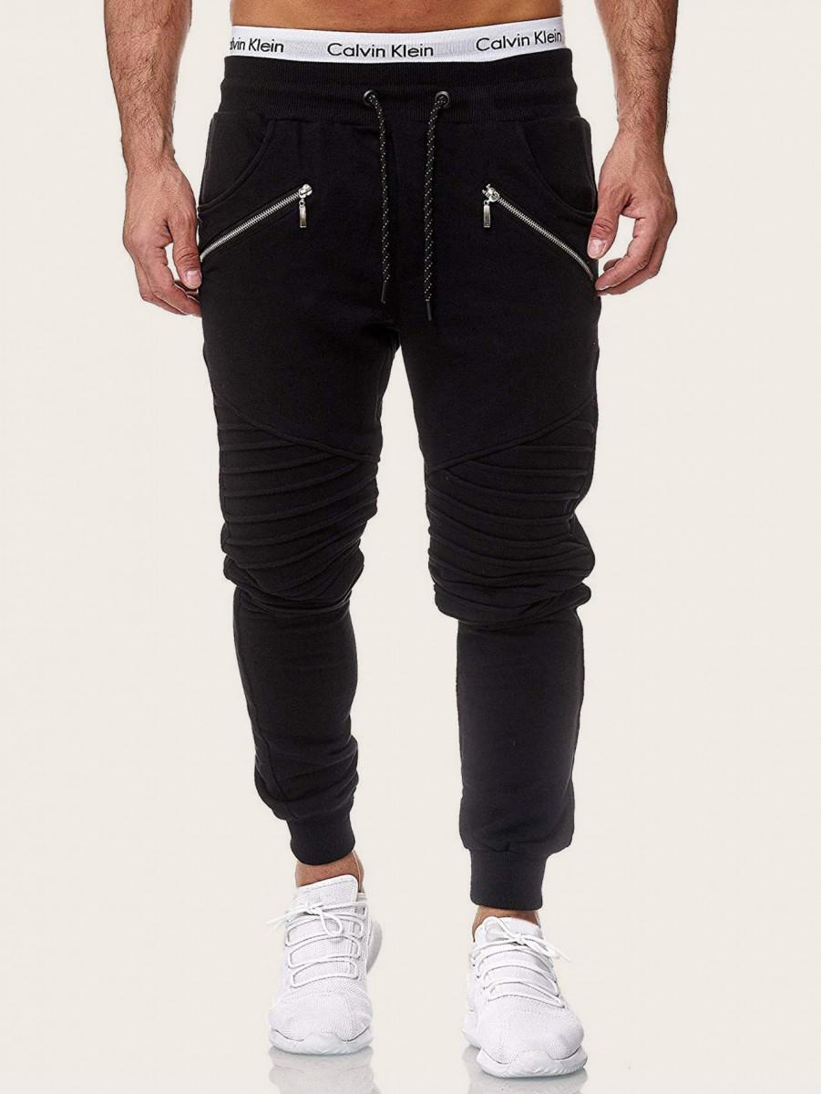 Men Ruched Detail Drawstring Sweatpants