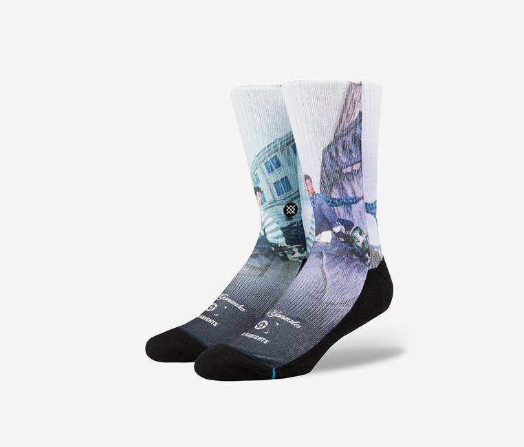 Stance Mens Bryce & Gonz Socks  White/Purple