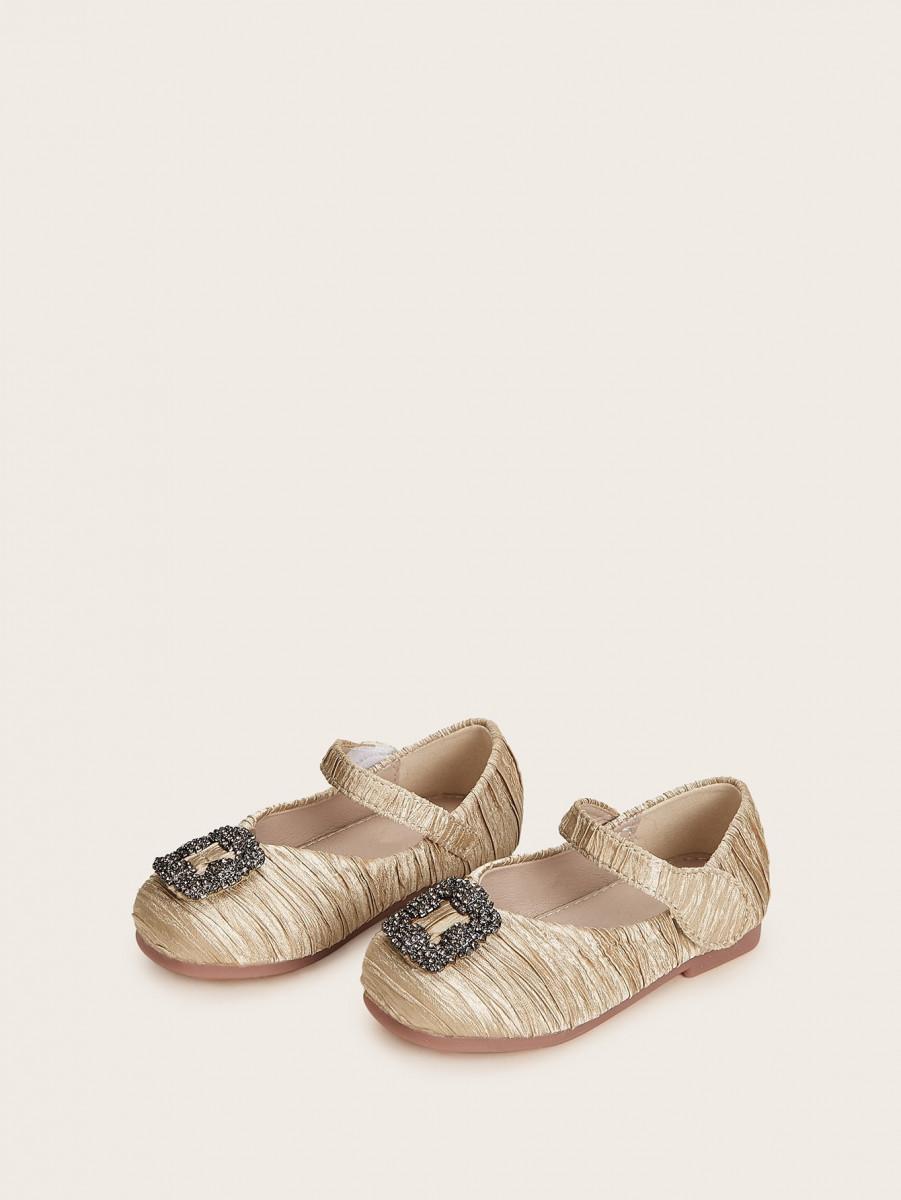 Girls Rhinestone Decor Mary Jane Shoes